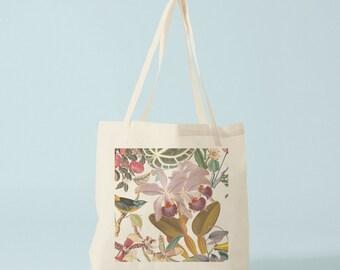 Tote Bag Botany II, canvas bag, groceries bag, laptop bag, student bag, woman bag, novelty gift, gift for coworker, cotton bag, shopper.