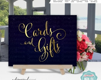 "Cards & Gifts Sign ""Starstrewn Night"" (Printable File Only) Wedding Sign, Cards and Gifts, Starry Sky, Gift Table Sign, Card Table Sign"