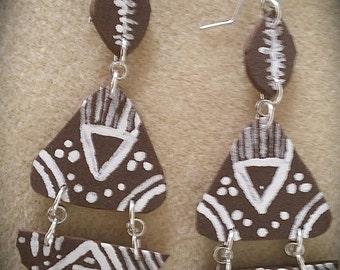 FoaMagic earrings, Foamies, 3 part earrings, lightweight earrings, chandelier earrings