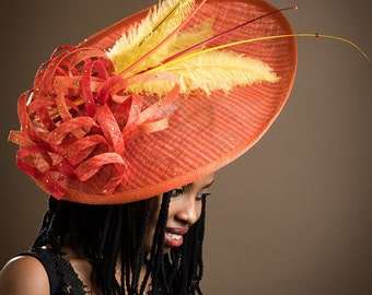 Broad Brimmed Hatinator.  Royal Ascot Hat, Kentucky Derby Hat, Horse Race Hat, Stylish Hat, Exclusive Hat, Fashion Hat.
