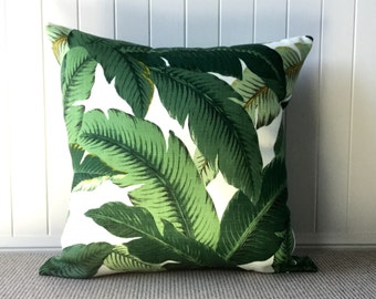 Outdoor Tommy Bahama 50cm x 50cm Cushion / Pillow Cover Tropical Green Swaying  Palm