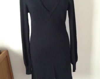 Dress wool, soft, black