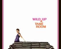 1967 Howard-Parlor Mid Century Furniture vintage magazine ad- Wild Up a Tame Room- Print, ephemera, decor, nostalgia