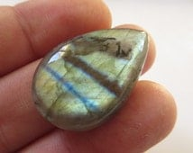 Labradorite Cabochon 34mmX22mm Natural Flash Stone Drop Shape Cab Mineral N.181A