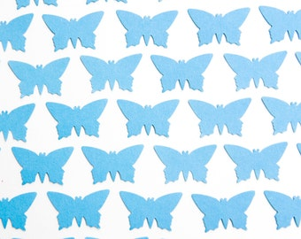 200 Light Blue Butterflies. Die-cut baby blue butterfly confetti for wedding decoration - Wedding toss - Butterfly confetti - Baby shower
