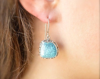 Detailed Turquoise Earrings