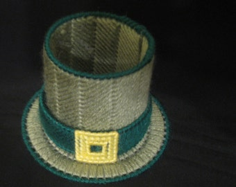 Plastic Canvas St Patrick's Day Leprechaun Hat Candy Holder