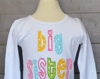 Personalized Big Lil Sister Big Lil Brother Applique Shirt or Onesie Girl or Boy Add Triple Ruffle Pants