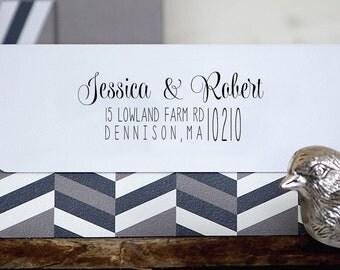 Personalized Address Stamp - Custom Stamp - Self Inking Stamp - Custom Rubber Stamp - Personalized Return Address Stamp RE813