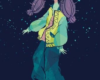 Cacti Girl #1 Postcard