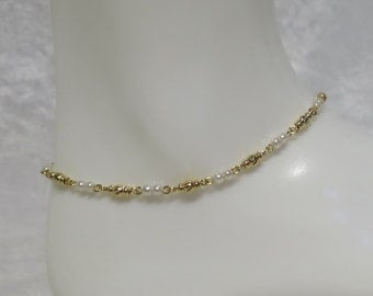 Goldplated anklet made to measure  CCS74