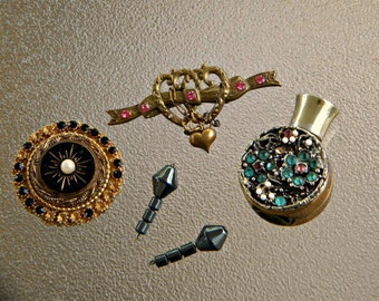Vintage Jewelry Bits & Bobs, Victorian Themed