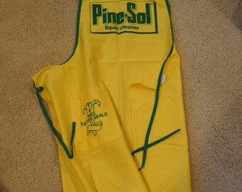 Vintage 1983 Easter Seals PINE-SOL Yellow Cloth, Promotional, Advertising