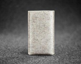 Natural Wool Felt iPhone Case Sleeve Hand-made