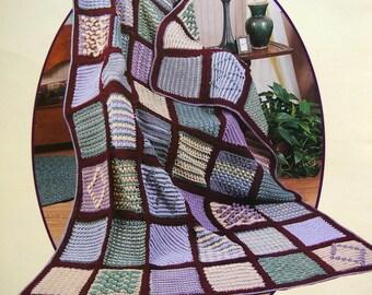 Sampler Afghan On The Double By Darla Fanton Crochet Pattern Leaflet 2000