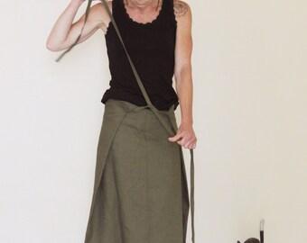Custom made Linen skirt, Long skirt, Wrap skirt, Eco friendly linen