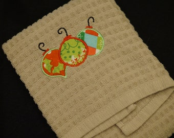 Kitchen Hand Towel Set- Ornament  and Christmas Light Applique