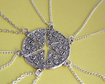 Pizza Slice Full Set | Pizza Necklace | Friendship Necklace | Best Friend Gifts | Pizza Gits | Pizza Jewelry