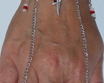 Chango Shango Orisha Bracelet/ring Combo Cuff