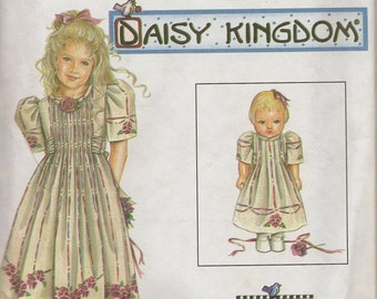 Simplicity Daisy Kingdom Child and Doll's Dress
