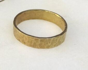 Hudson Hammered Brass Ring