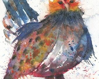Mille Fleur Chicken art print