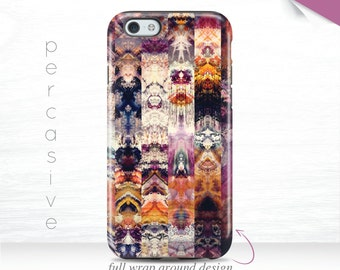 Abstract Geo iPhone 6 Case  Purple iPhone 6s Cover, iPhone 6 Plus Case Vintage iPhone 5s Case, Galaxy S7 3D Case, iPhone 7 Case Retro  10g