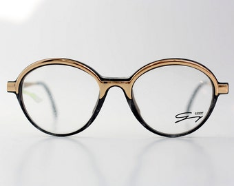 NOS Genny round eyeglasses / Vintage glasses / Deadstock optical frames / Womens eyeglasses / made in Italy - 80s