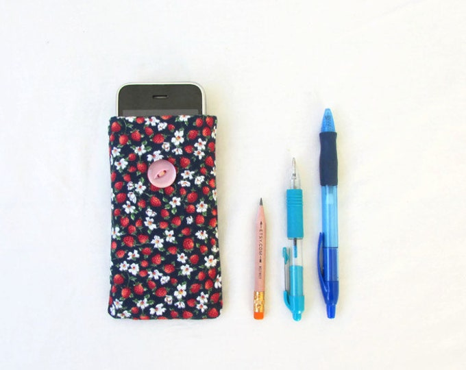 CLEARANCE Fabric IPhone cover, Iphone 5s 5c 4s samsung galaxy s2, handmade in the UK