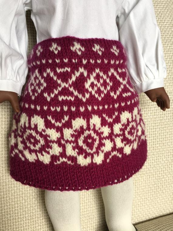Knitting Skirt Girl : American girl doll winter skirt knitting pattern