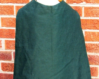 Reversible Cape, Forest Green and Black