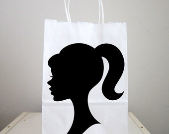 Doll Goody Bags, Doll Favor Bags, Doll Gift Bags, Doll Favors, Paris Goody Bags, Girl Goody Bags