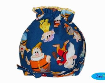 Project Bag | Knitting Bag | Sock Bag | Drawstring Bag | Knitting Project Bag | Seven Dwarfs Bag | Inspired by Disney Pouch