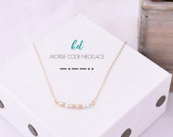 Morse Code Sorority Necklace KD / Kappa Delta Morse Code Necklace / Kappa Delta Necklace / Big Little Gifts / Kappa Delta Sorority Necklace