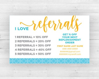 Rodan and Fields Referral Cards | Customized Printable