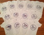 New England Patriots Monthly Baby Bodysuit Set