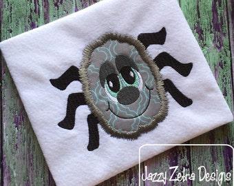 Fuzzy Spider 105 Applique Embroidery Design - spider applique design - Halloween applique design