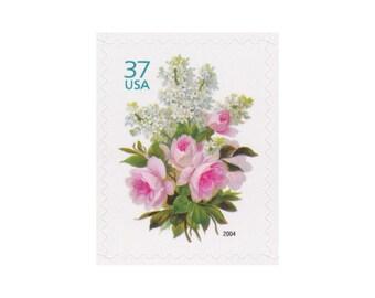 10 Vintage Unused Postage Stamps - 2004 37c Garden Bouquet - Item No. 3836 - Vintage Postage Shop