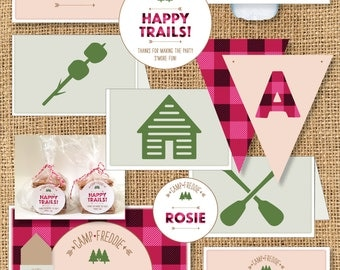 Girls Camp Themed Birthday - Printable