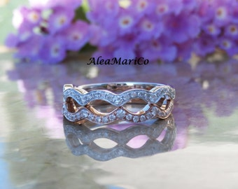 IN STOCK~ Diamond Wedding Band in 14kt White, Rose, or Yellow Gold