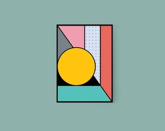 Shapes #3 Bold Colourful Geometric Abstract Graphic Art Print