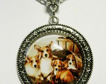 Corgi pendant with chain - DAP26-032