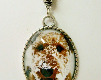 Wire haired terrier in the snow pendant with chain - DAP09-029