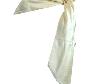 vintage 1930s Ivory Silk One Shoulder Wrap Scarf
