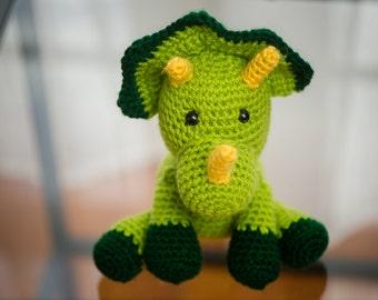 Dinosaur Crochet Pattern: Triceratops