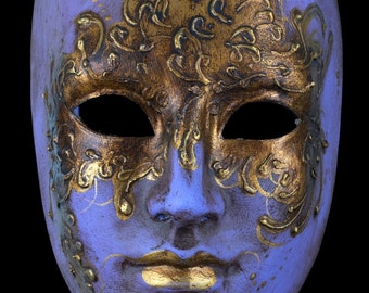Venetian Mask | Purple and Gold Face