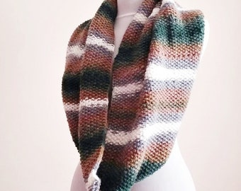 Extra Large Knit Infinity Scarf.