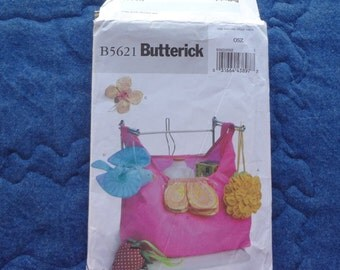 UNCUT BUTTERICK B5621 Market BAG Tote with Contrasting Pouch
