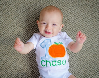 First Birthday Pumpkin Shirt - Pumpkin Birthday - Pumpkin Shirt - One - 1st Halloween - Birthday Number Shirt - Halloween Birthday Shirt