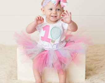 Hot air balloon first birthday outfit TUTU headband hair bow ANY AGE embroidered girls shirt pink lavender mint